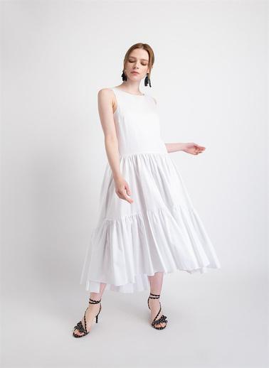 Rue Elbise Beyaz